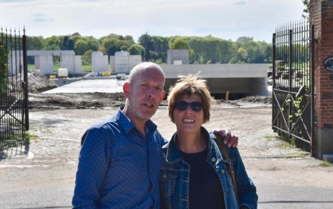 Ann & Wim aan de Quarantainestallen tijdens de verbouwingen